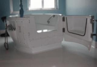 Bañera BENSBERG puerta